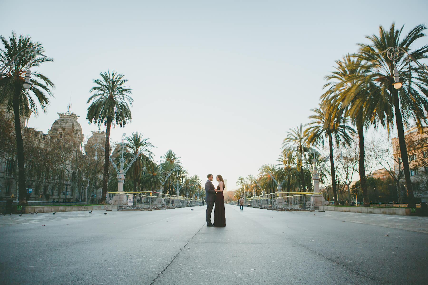 Couple in Barcelona Spain