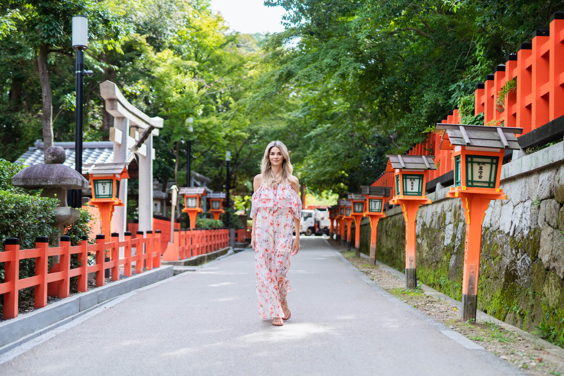Solo traveler in Kyoto Japan