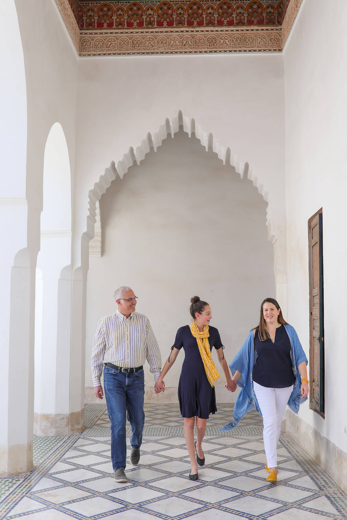Family in Marrakesh Morocco
