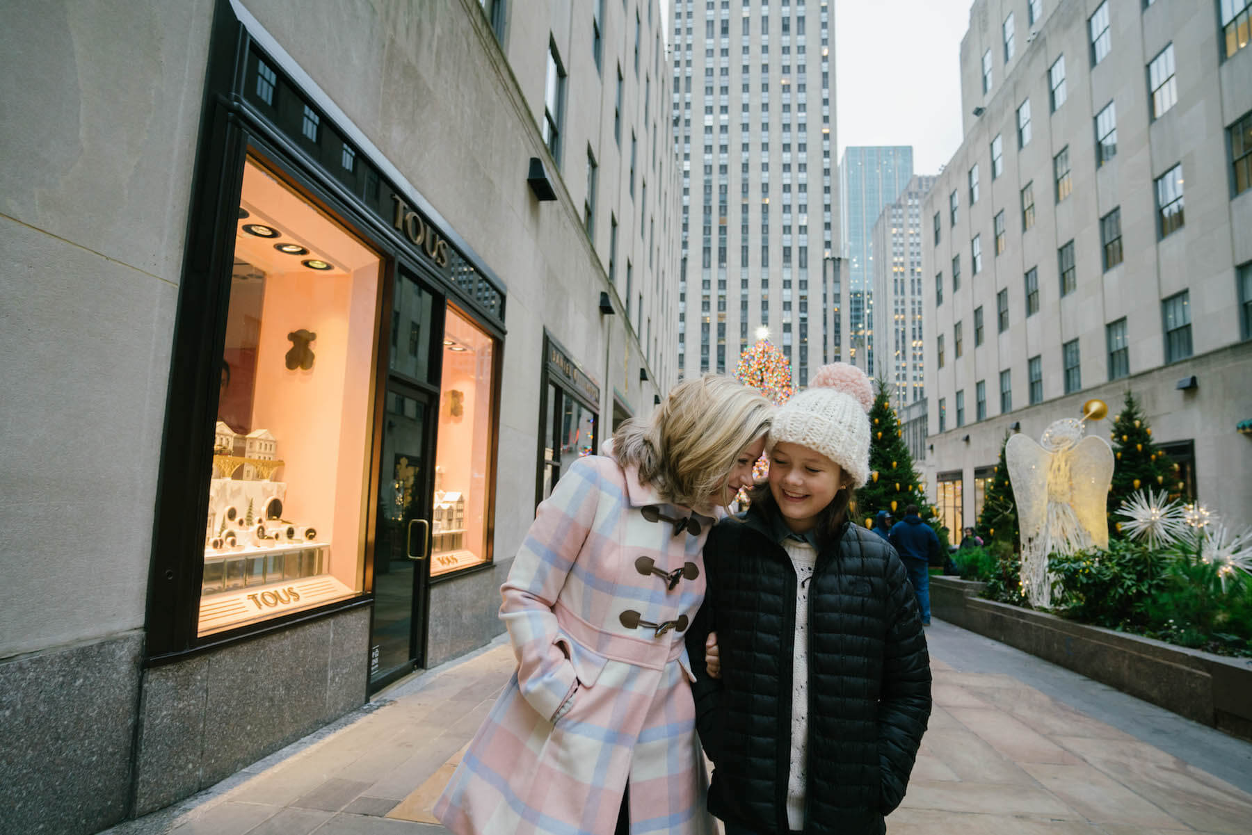 Mother and Daughter in New York City United States USA