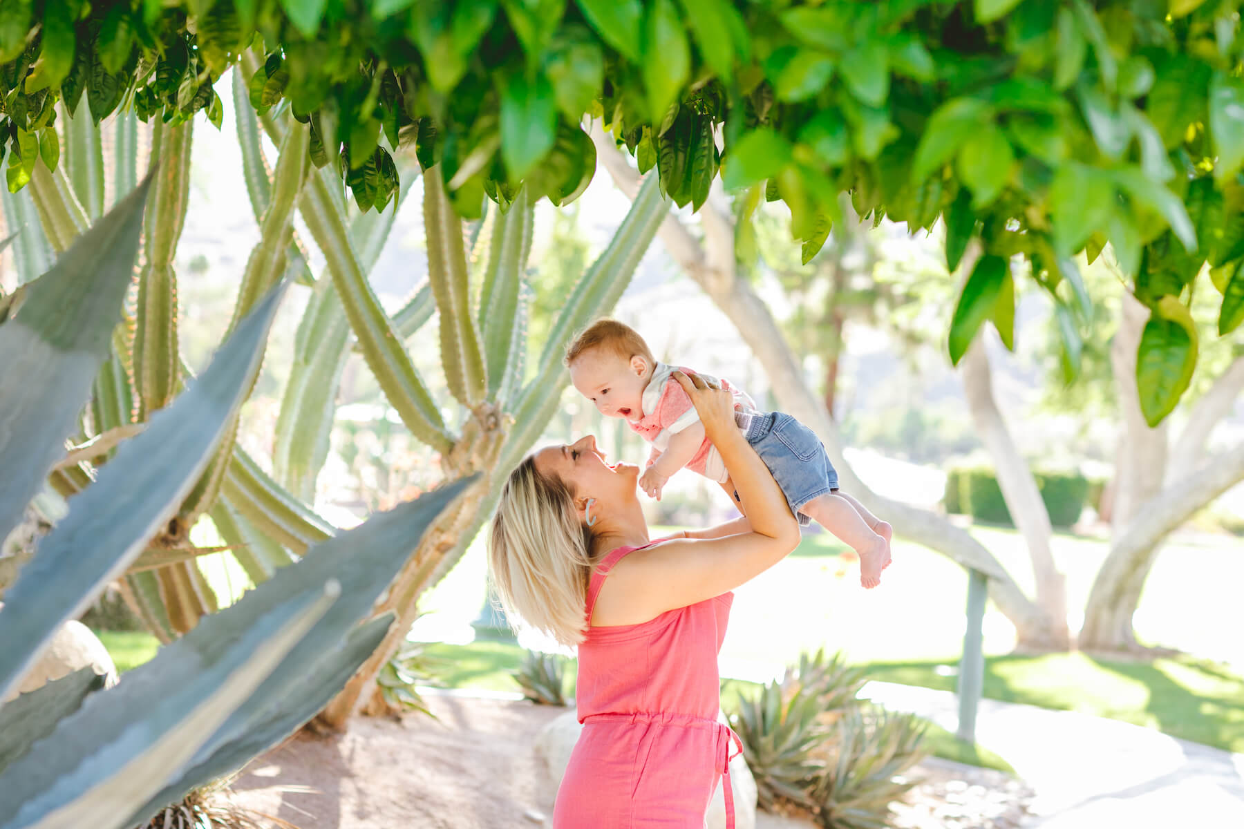 Palm Springs California United States Spring Break Baby and Mother