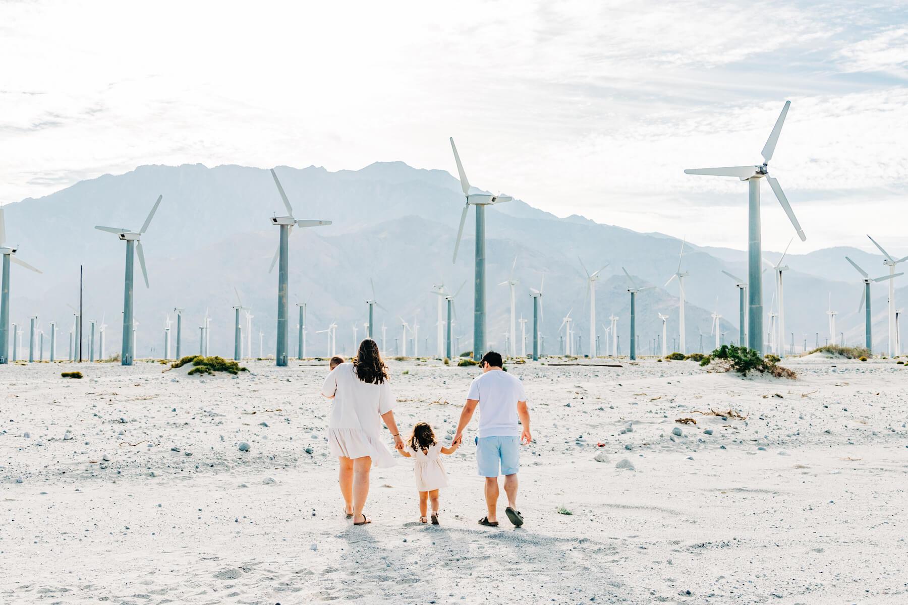Family in Palm Springs Desert