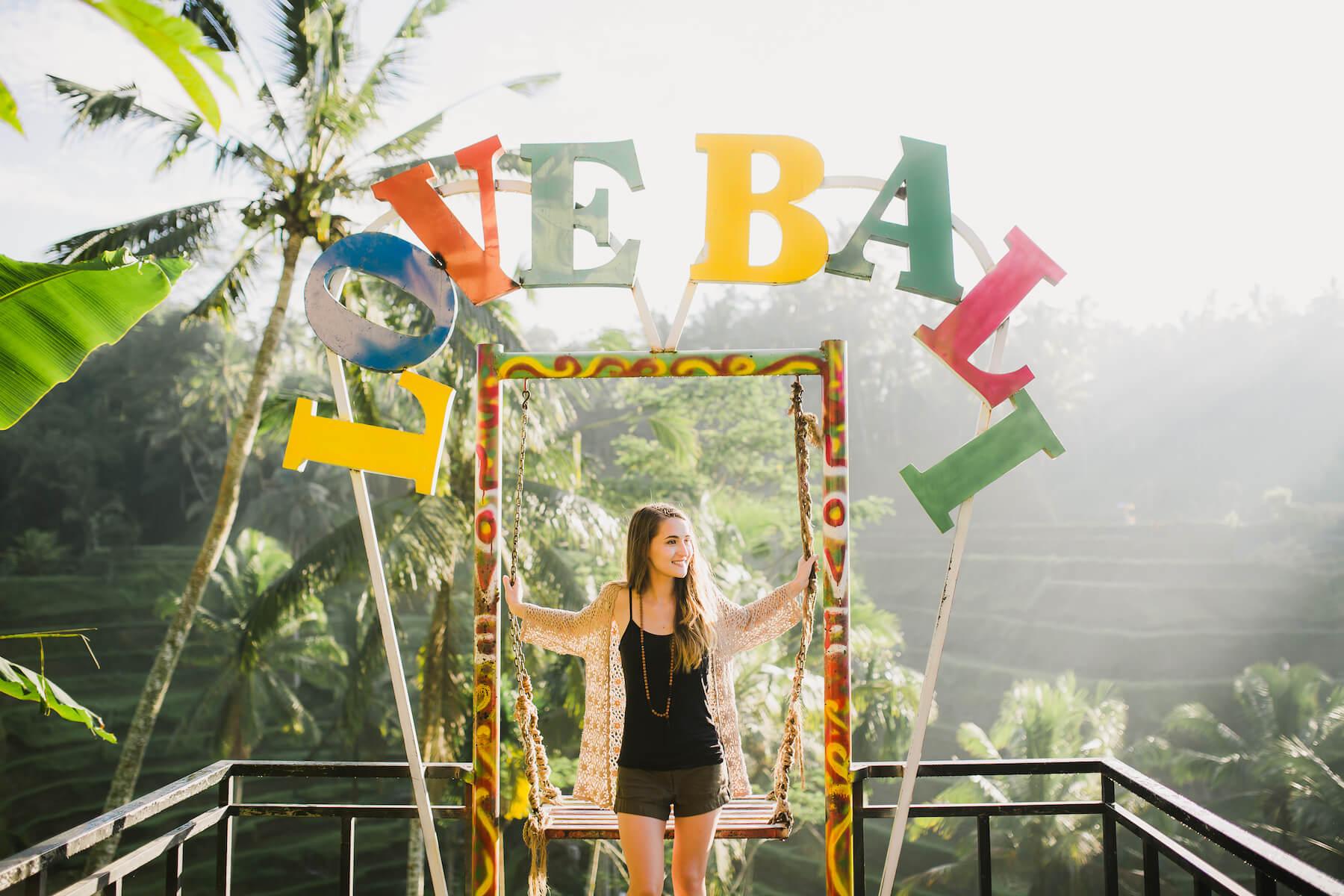 Solo traveler in Bali Indonesia
