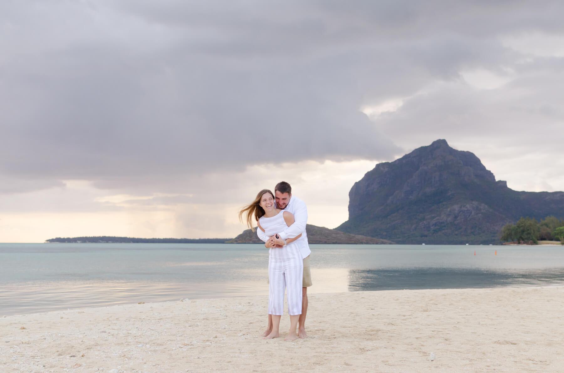 Couple in Mauritius Africa