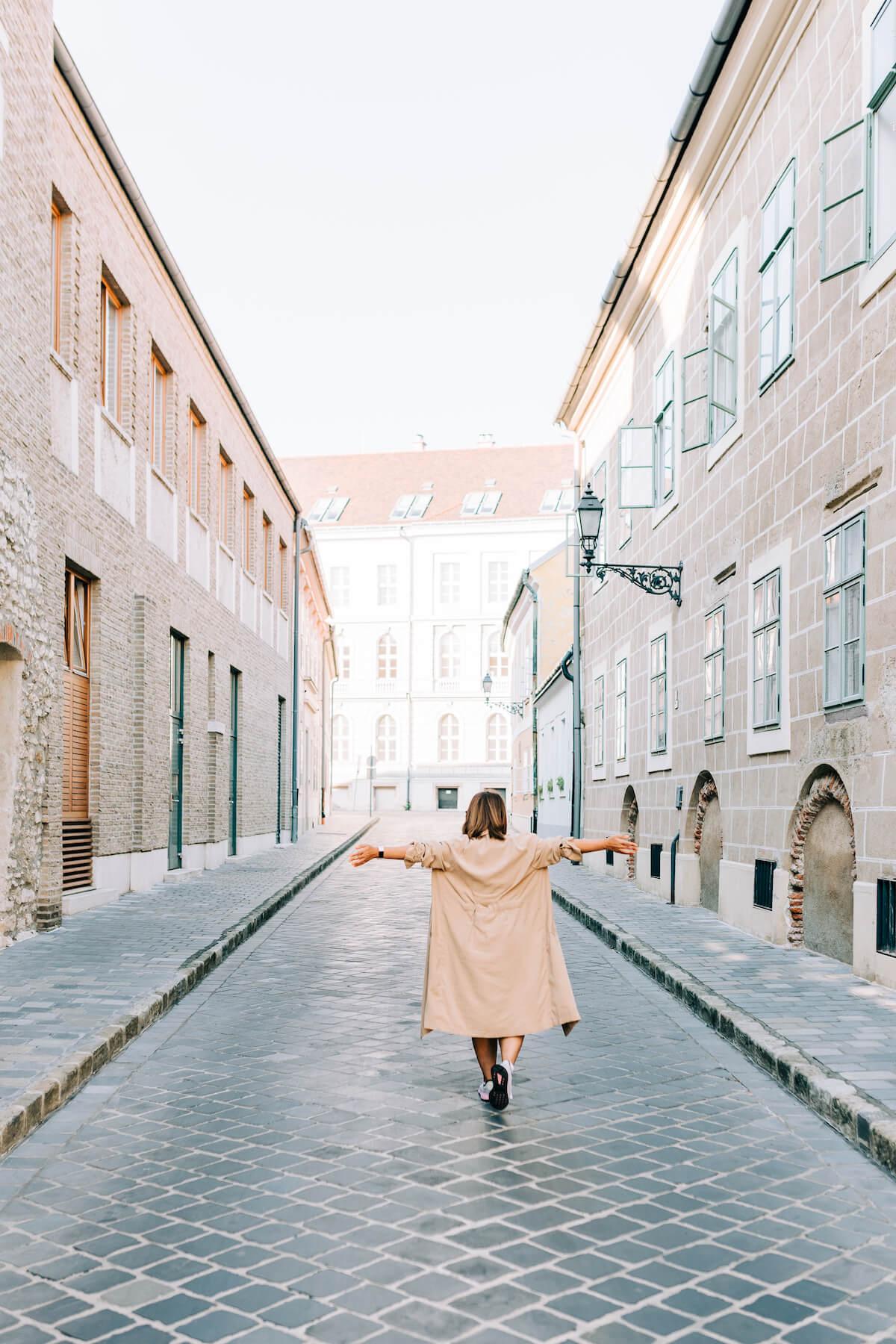 Solo female traveller international women's day Budapest Hungary