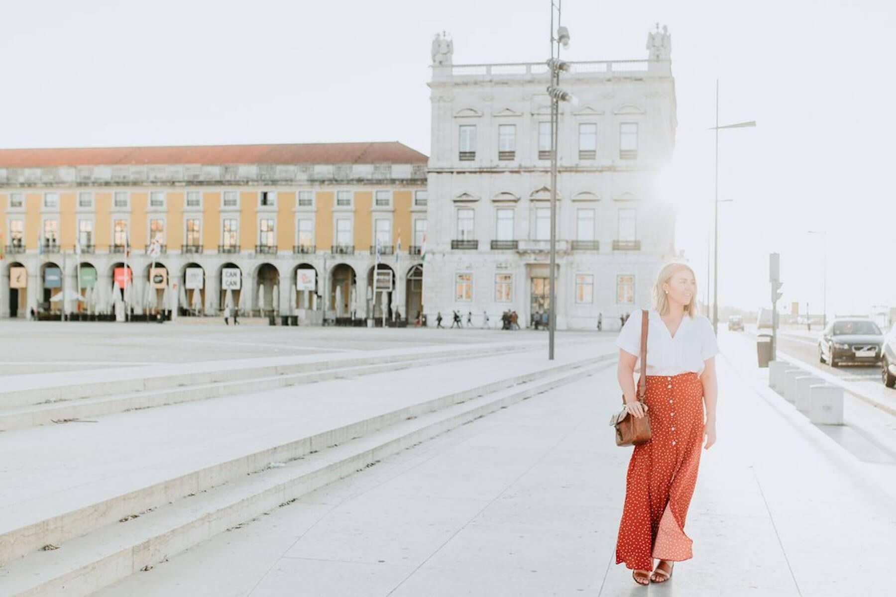 Solo female traveller international women's day Lisbon Portugal