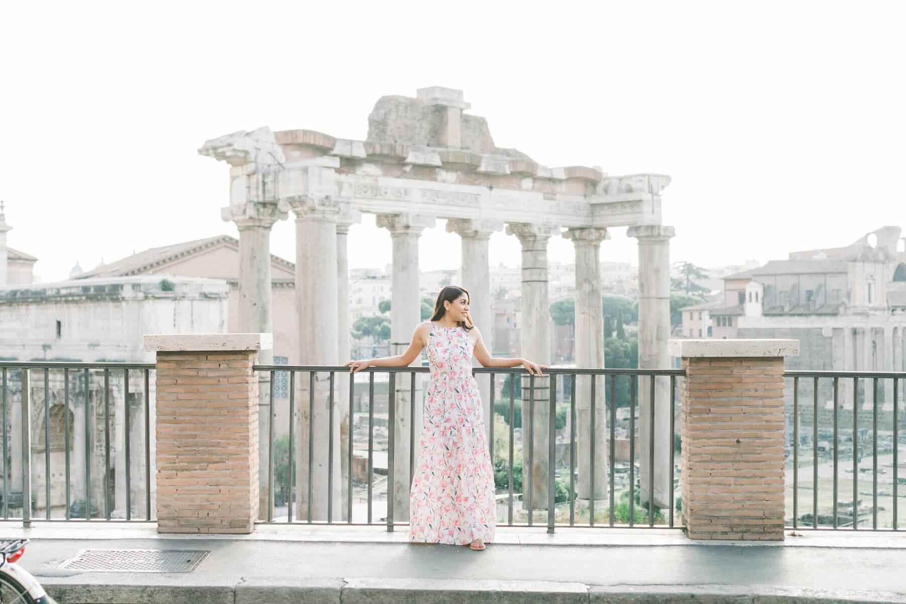 Solo female traveller international women's day Rome Italy