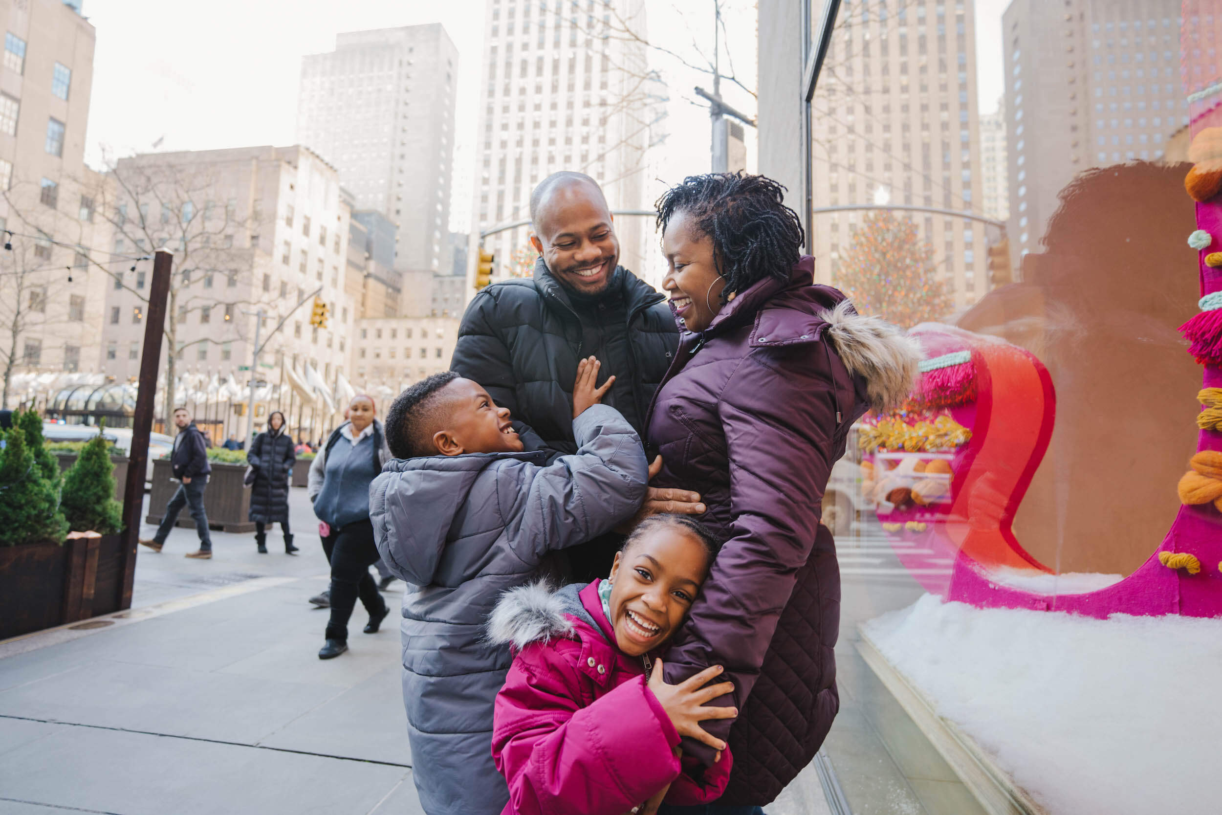 Family vacation in New York City USA