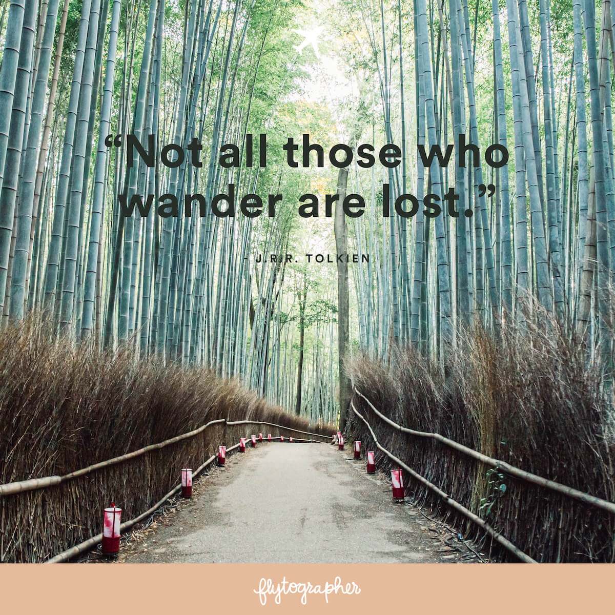 "Travel quote: ""Not all those who wander are lost."" - J.R.R. Tolkien"