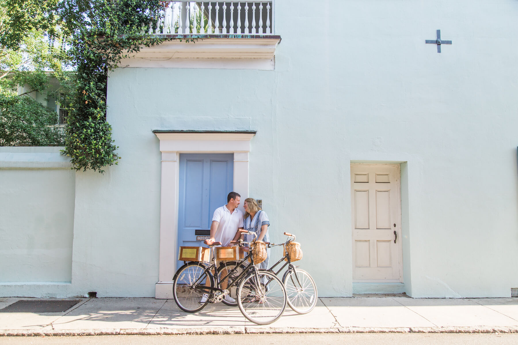 Hometown Family Photo Shoot in Charleston with Bicycles