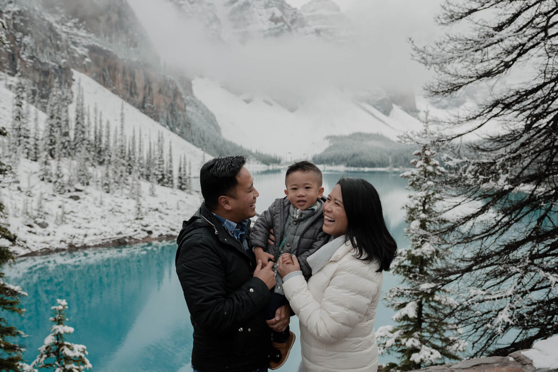 Family Hometown Photo Shoot in Banff Canada