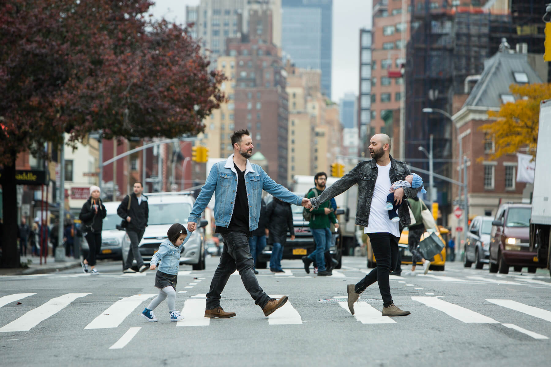 Gay Family Hometown Photo Shoot in New York City