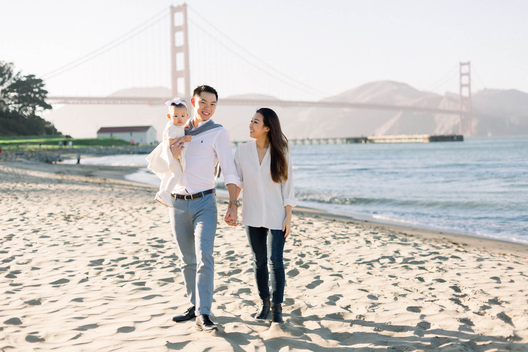 Hometown Family Photo Shoot in San Francisco on the beach