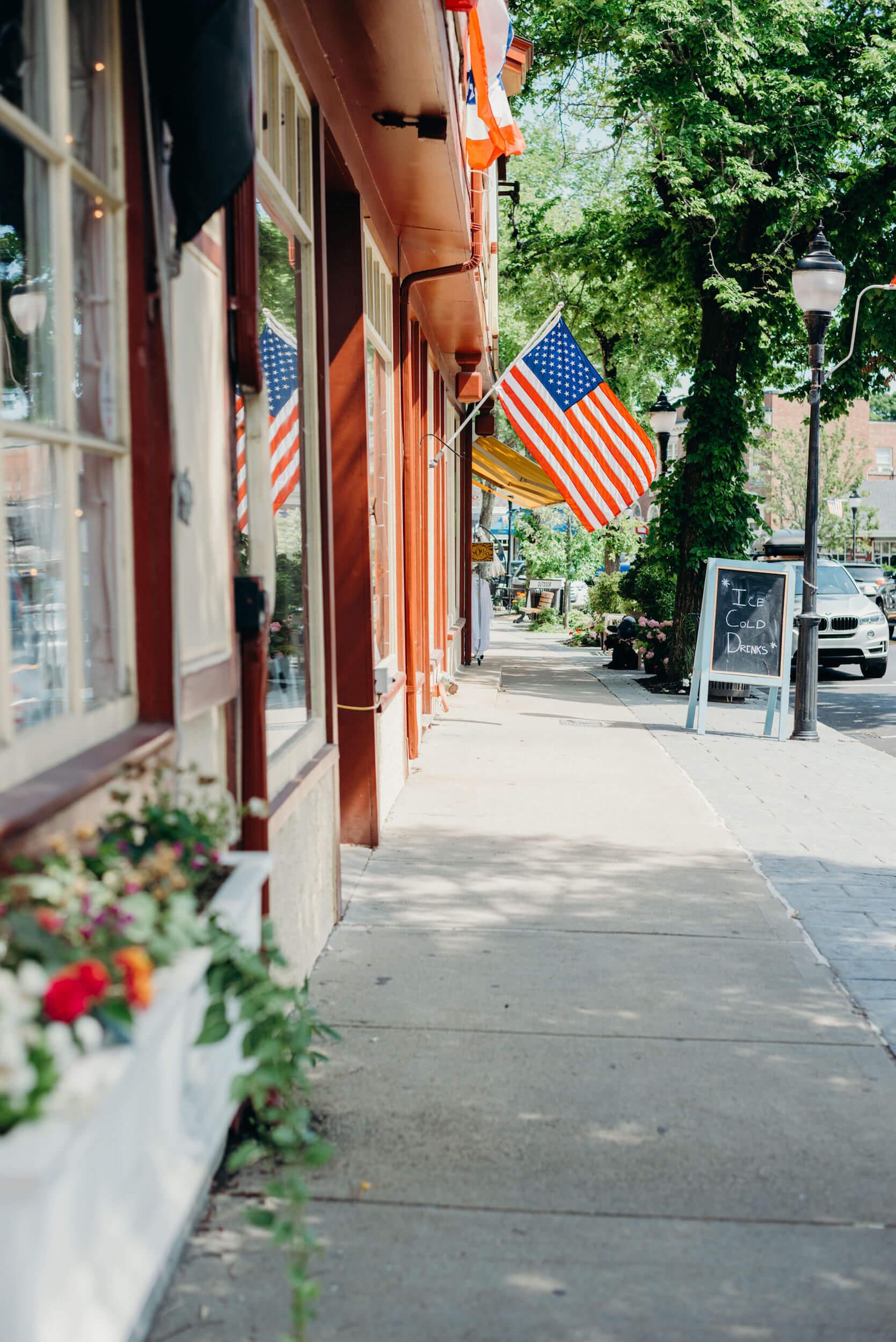 Exterior of Main Street in Cape Cod, Massachusetts, USA.