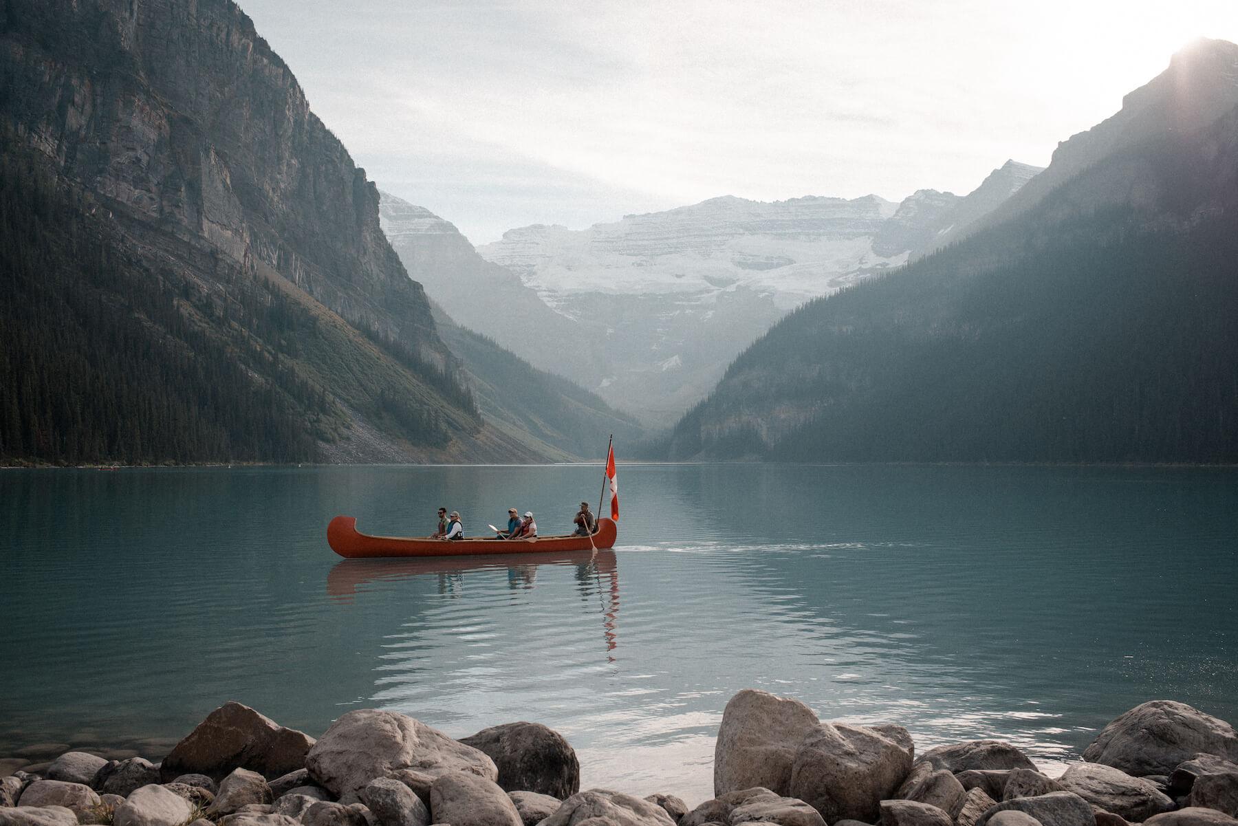 Explore Canada, Banff Alberta, Lake Louise, Canada Flag, Canoe
