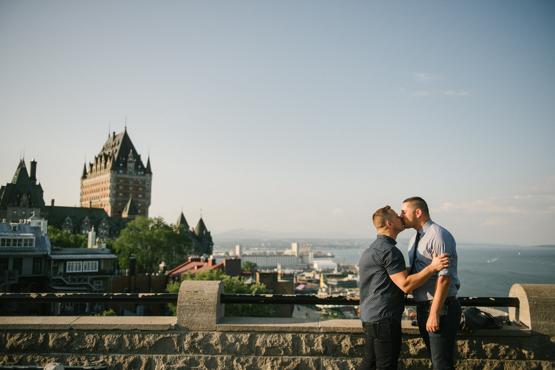 Proposal in Quebec City in Canada