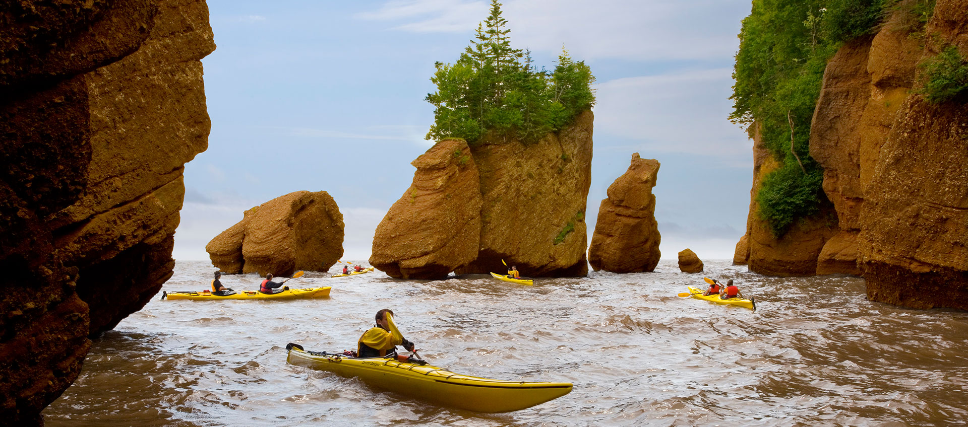 Exploring Hopewell Rocks in New Brunswick Canada
