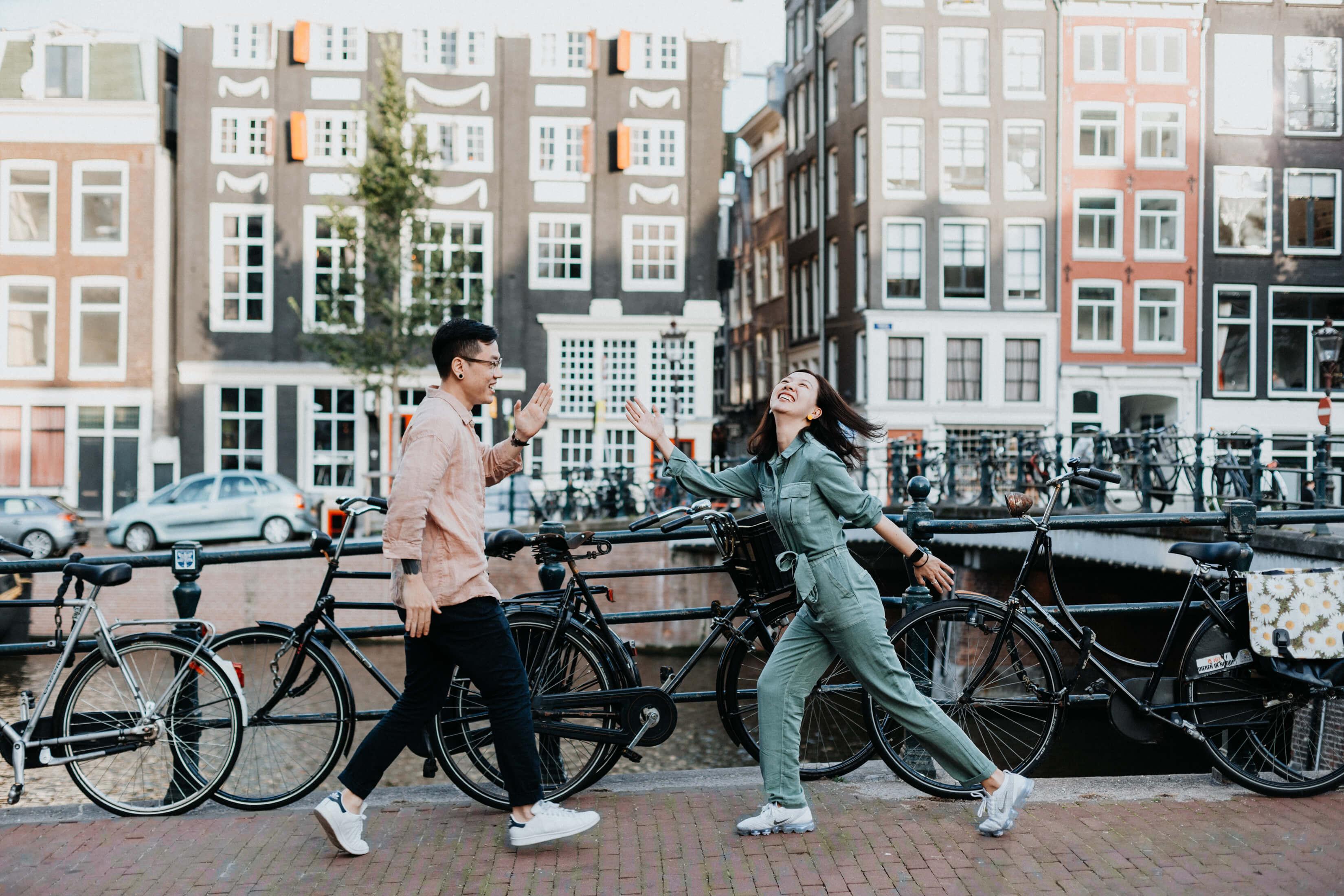 Elina in Amsterdam for Flytographer