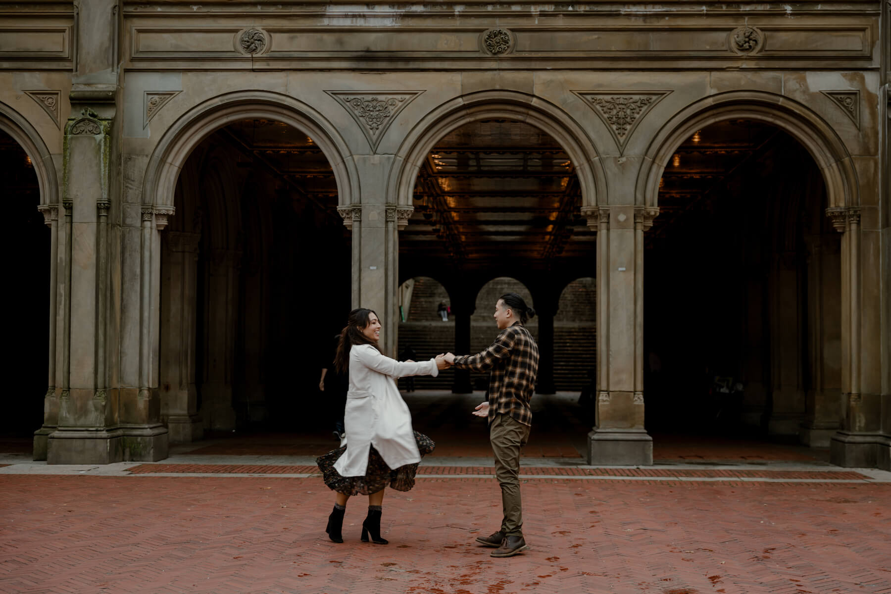 couple in Central Park, NYC dancing