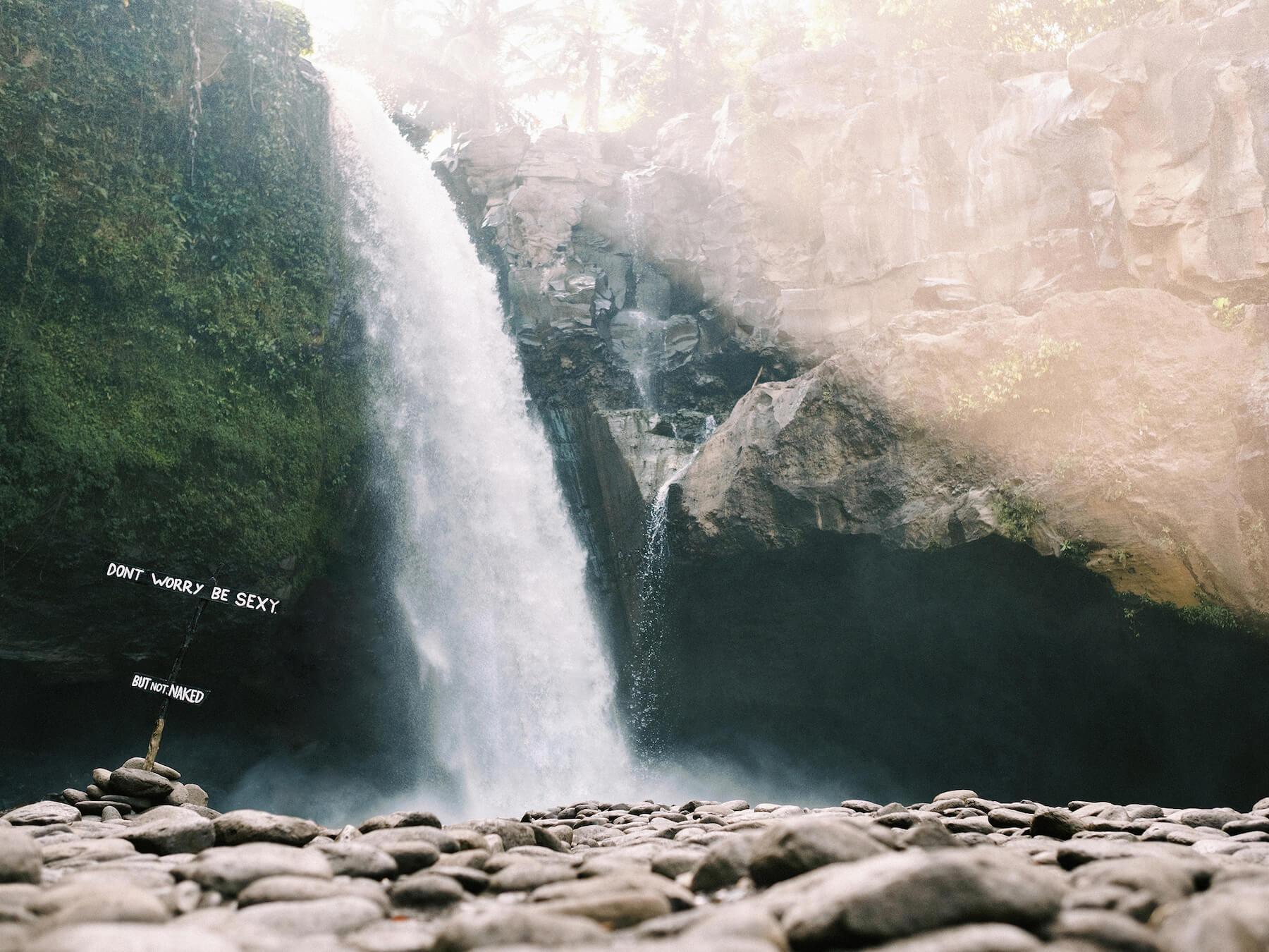 Travel home decor, fine art print of Blangsinga Waterfall in Bali, Indonesia