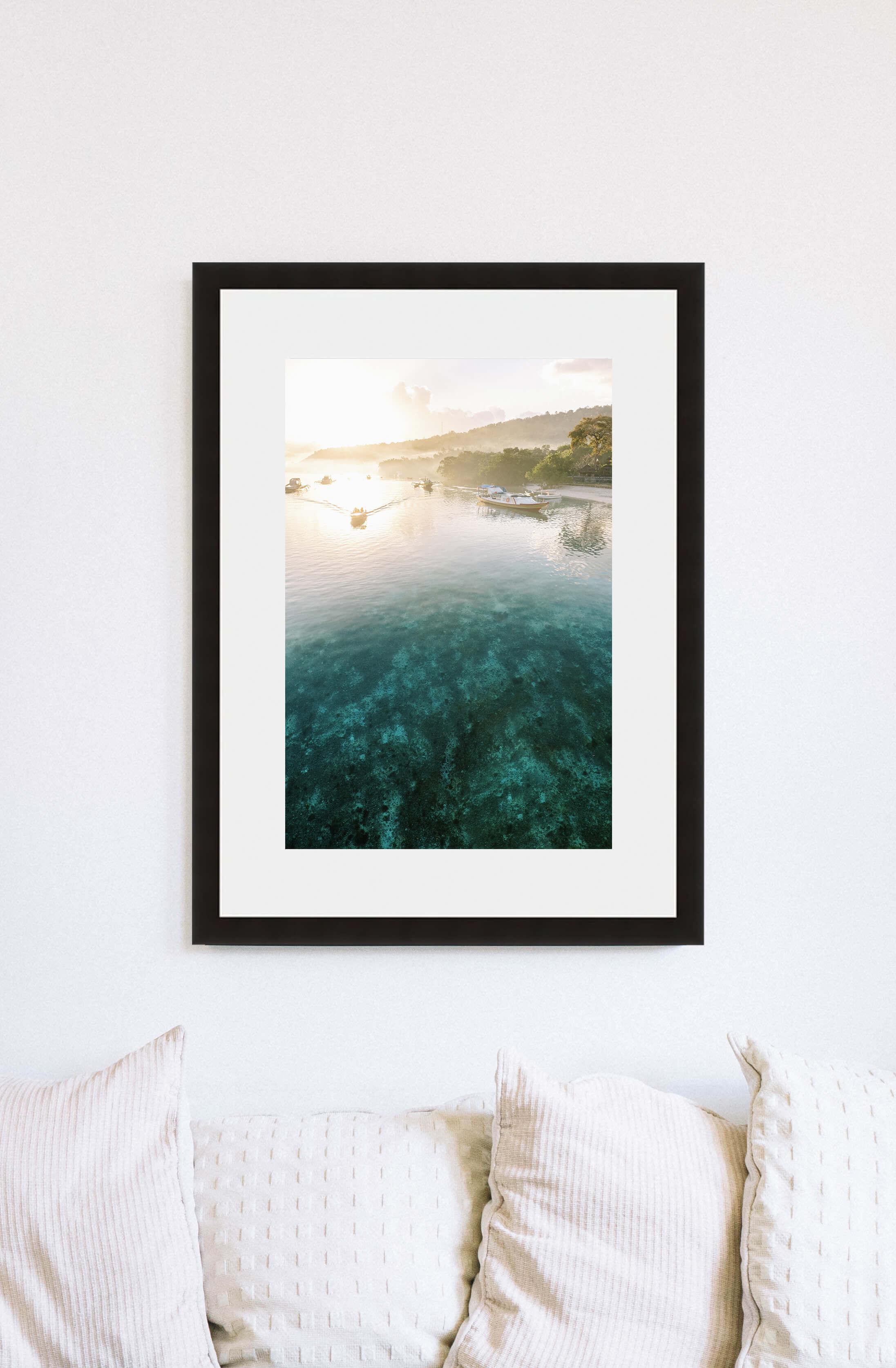 Travel home decor, fine art print of Nusa Lembongan in Bali, Indonesia