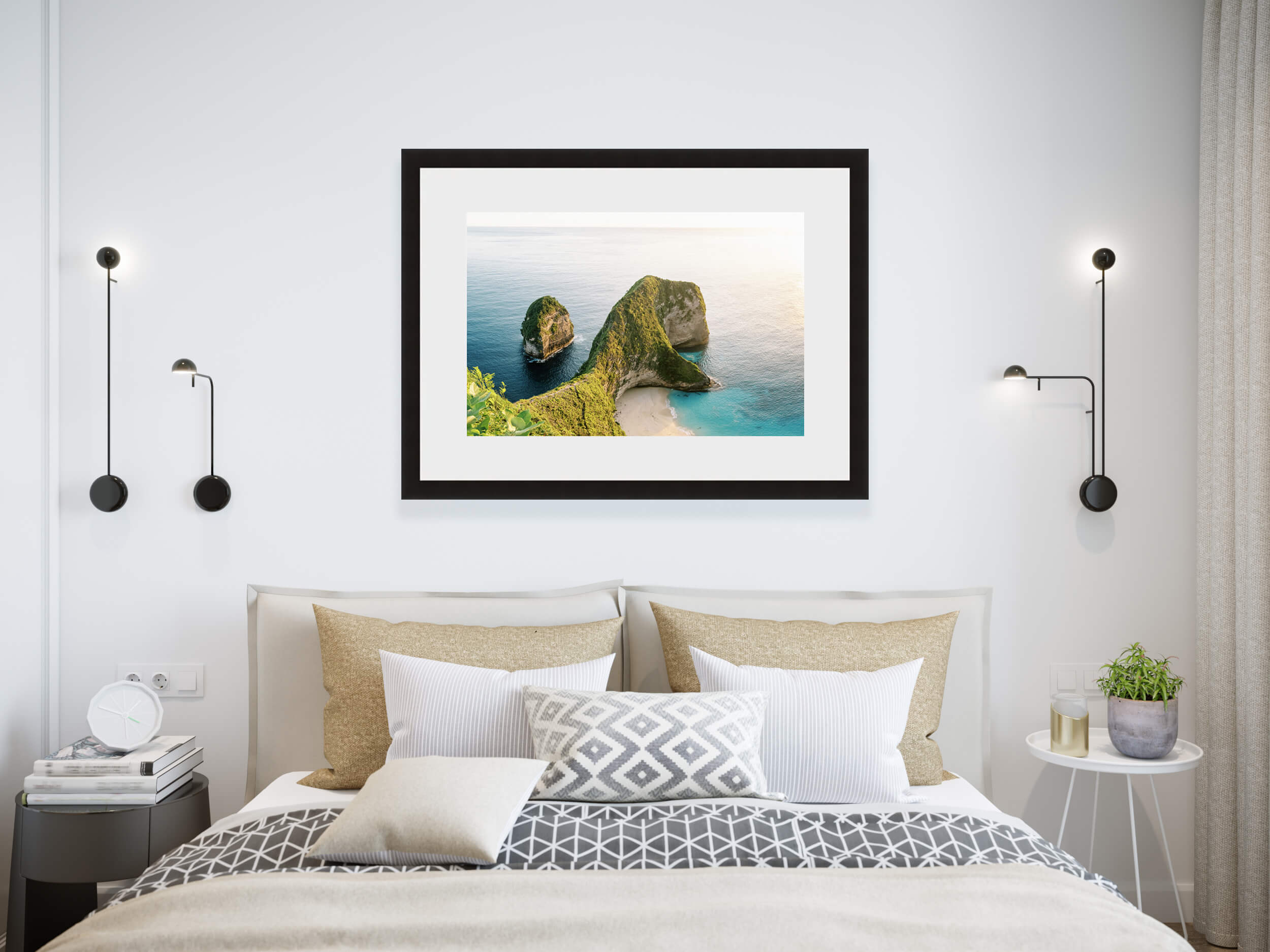 Travel home decor, fine art print of Nusa Penida in Bali, Indonesia