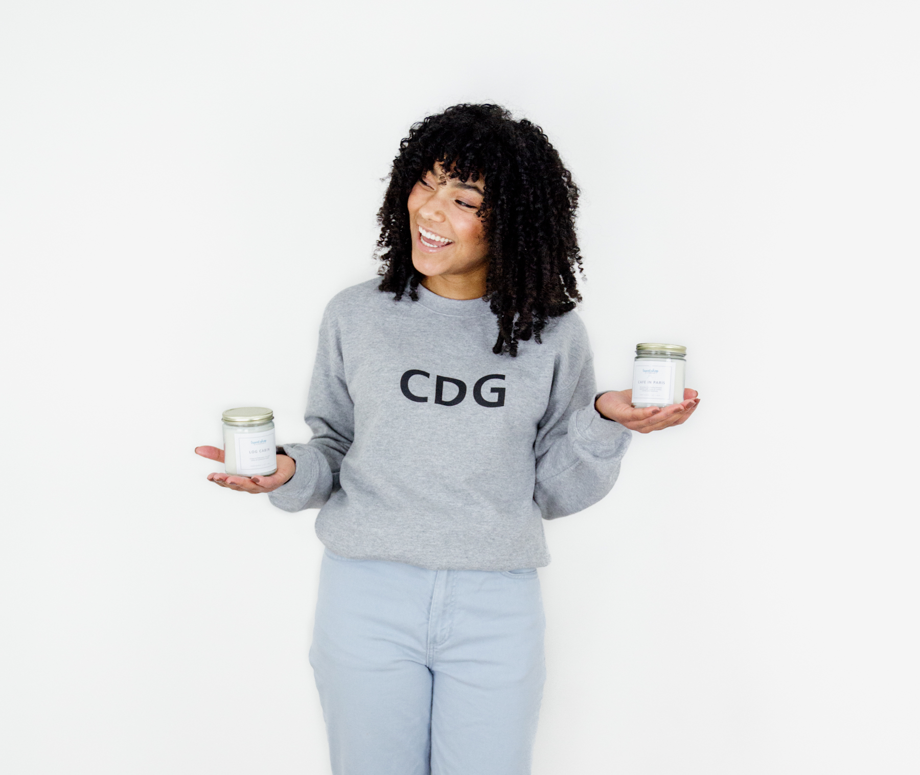 Travel-inspired honeymoon wedding gifts, Paris CDG Airport Code Crewneck, Travel-inspired Candles