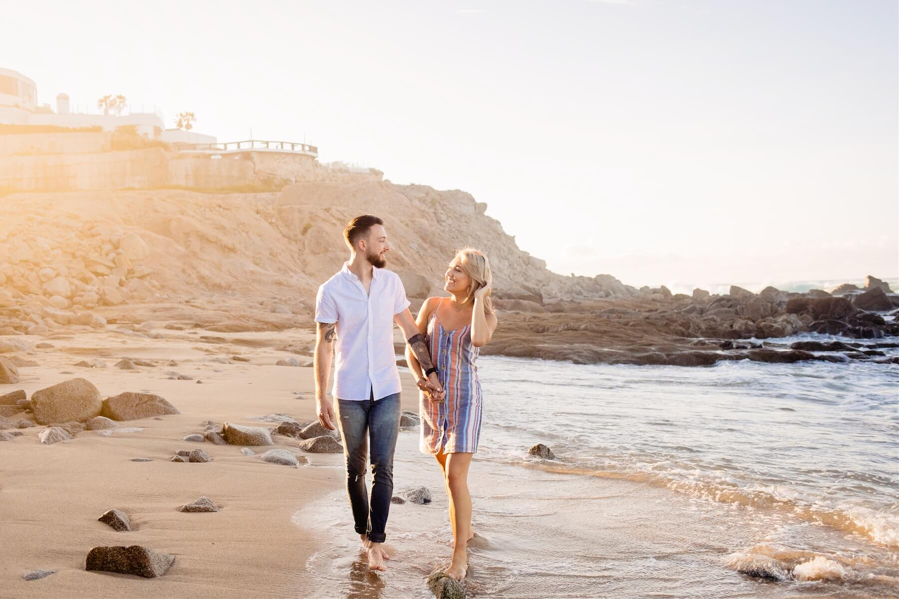 Couple vacation surprise proposal photoshoot in Cabo San Lucas Mexico