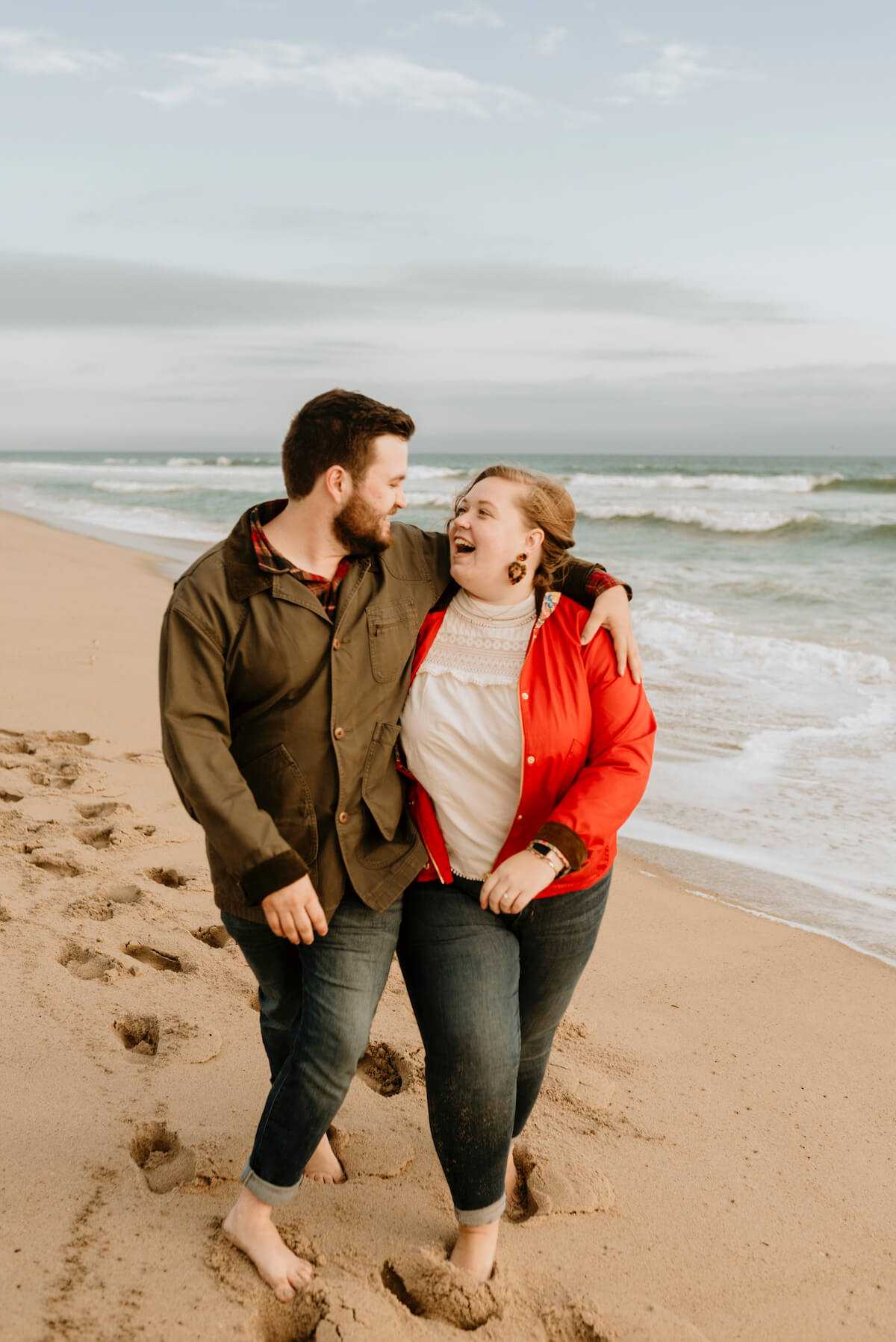 Marriage proposal on the beach in Nantucket