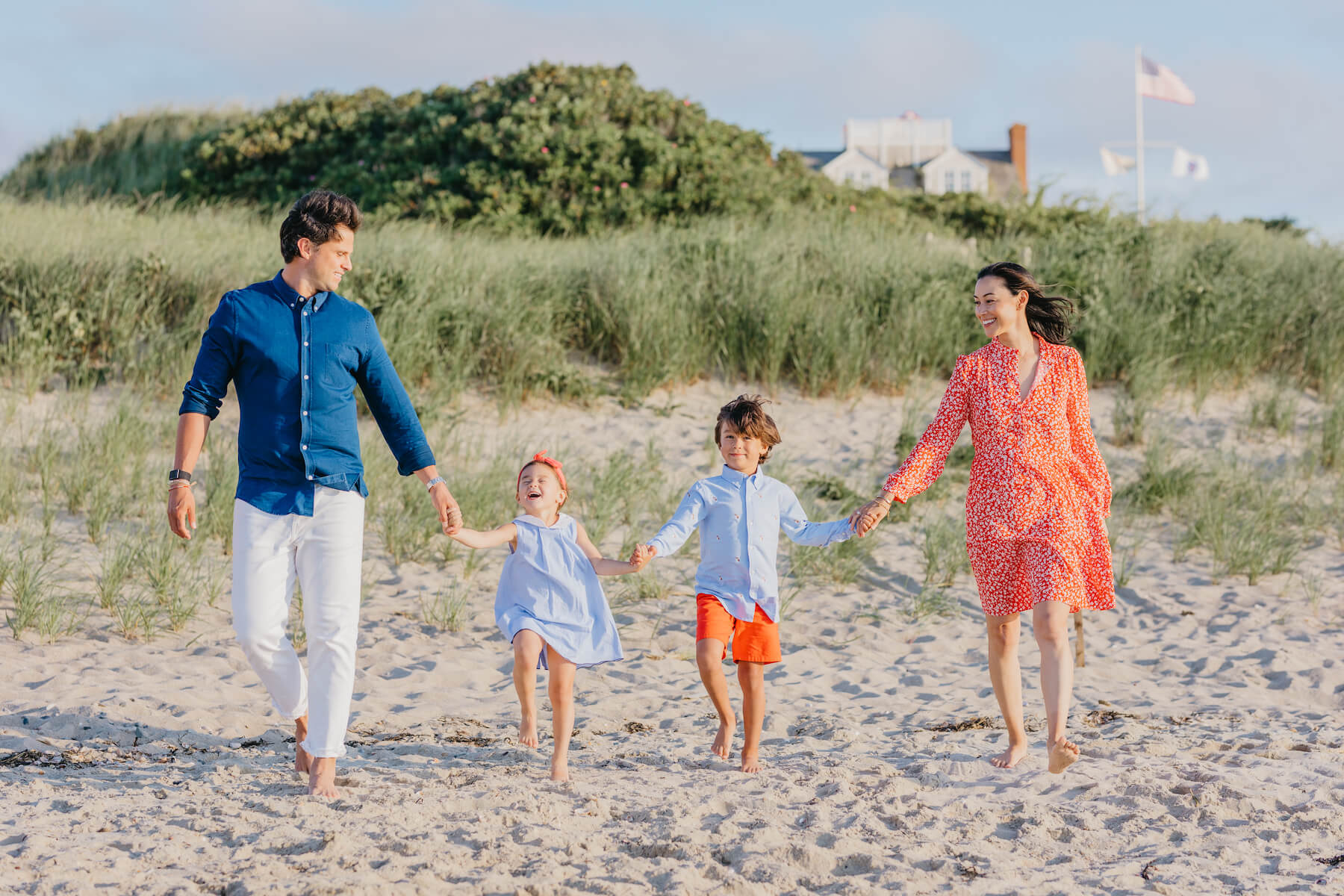 family photo shoot in Nantucket with Flytographer