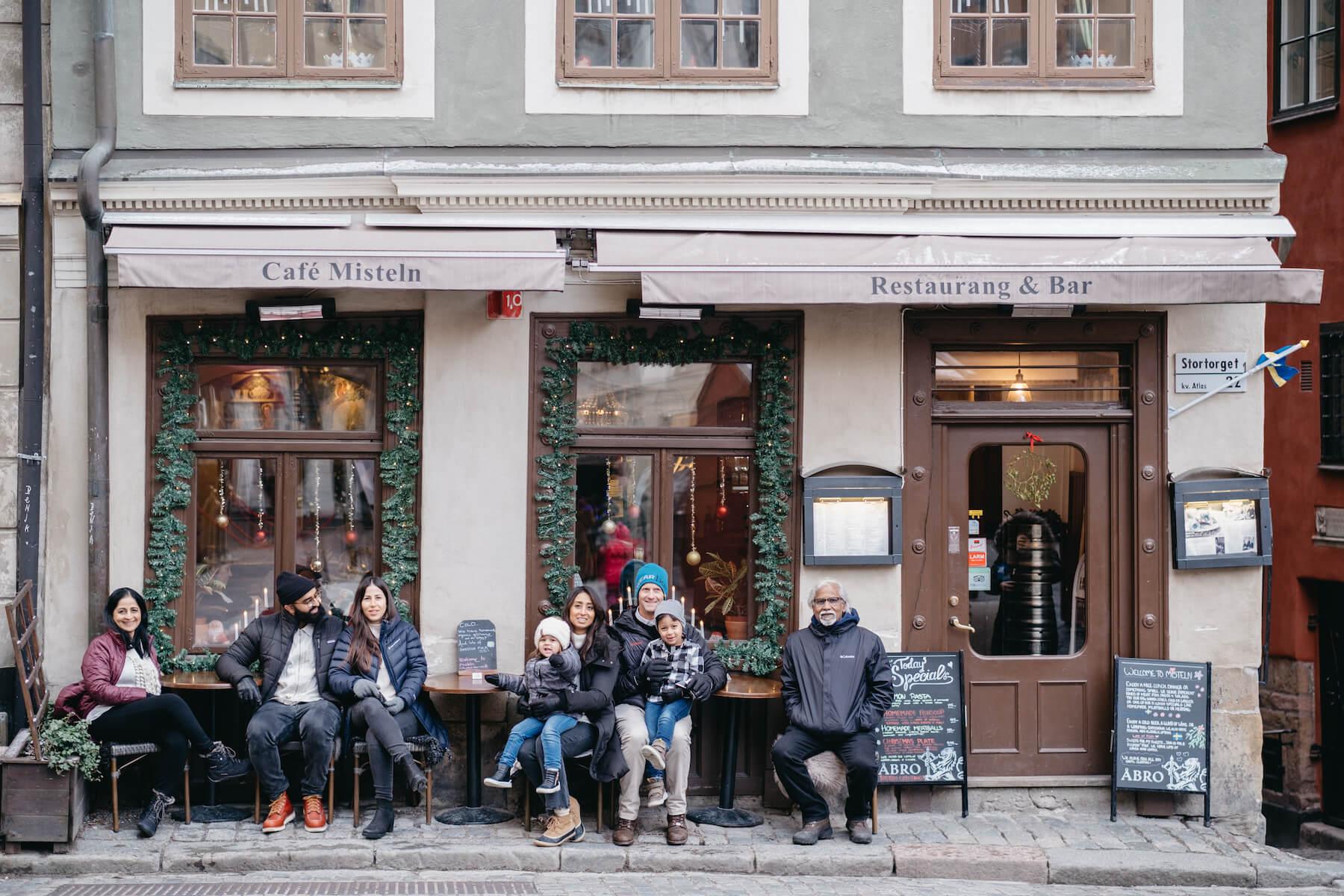 multi-generational family photo shoot in Stockholm Sweden