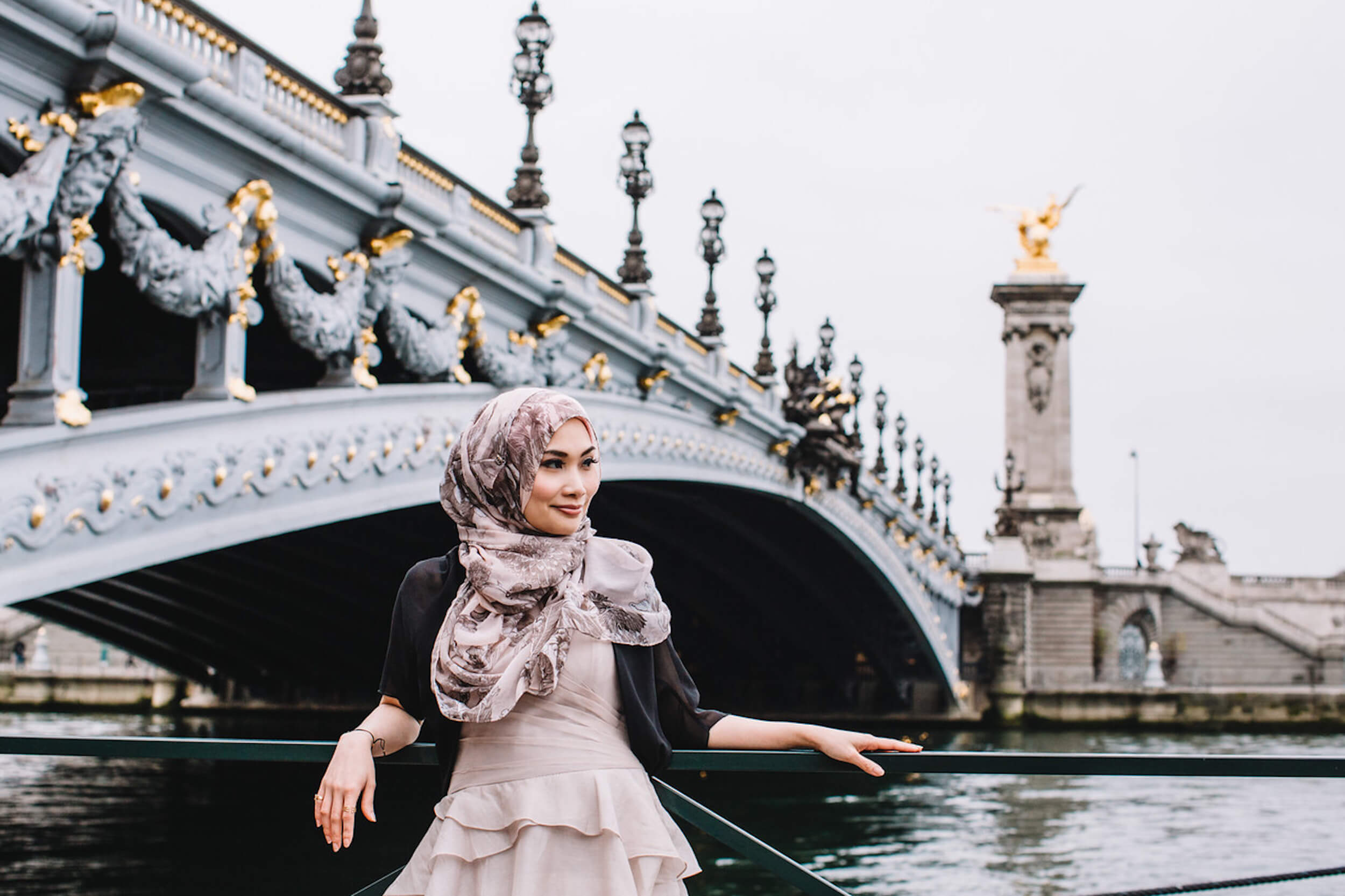 A solo traveller in Paris France captured during a vacation photo shoot with Flytographer