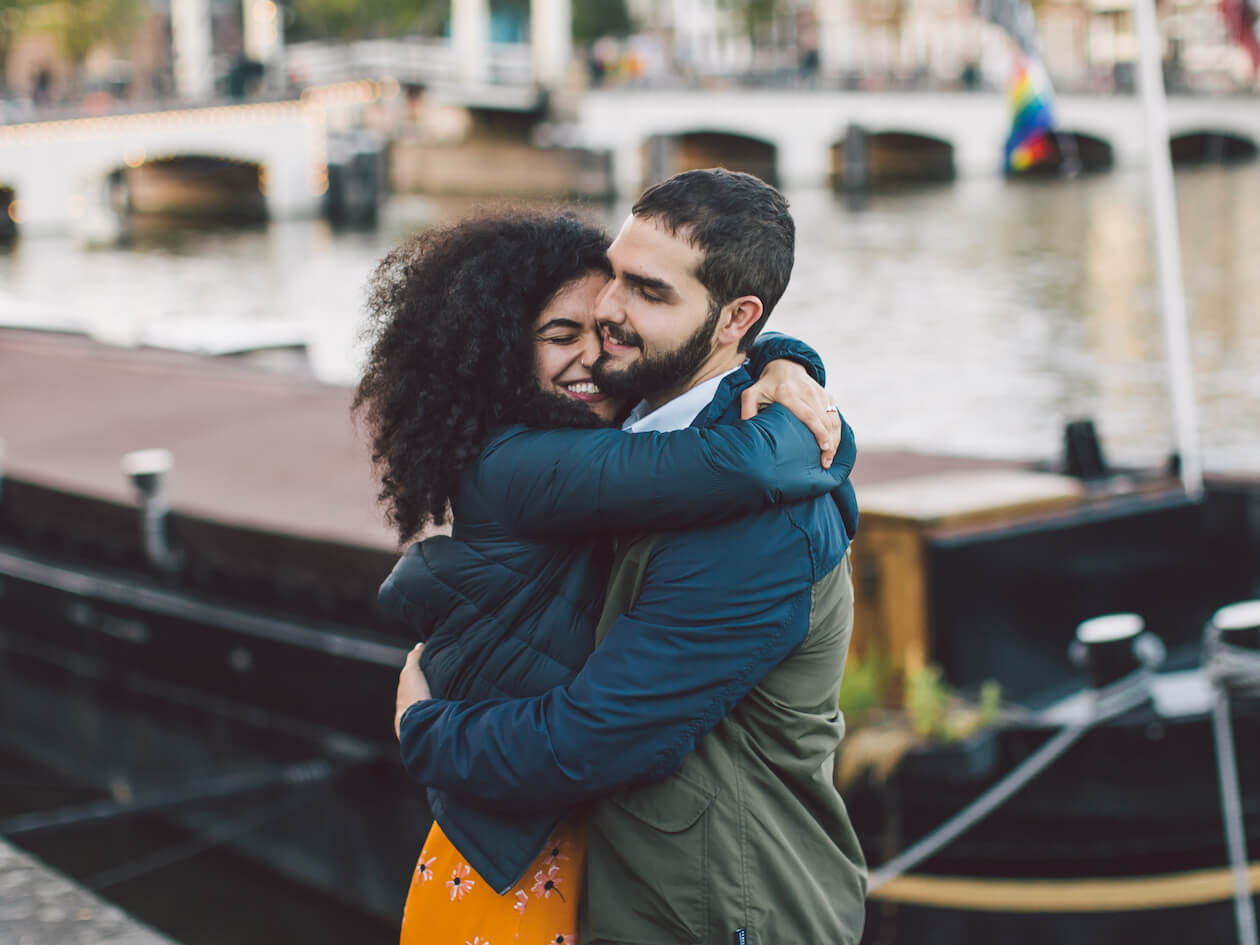 proposal photographer in Amsterdam by Flytographer