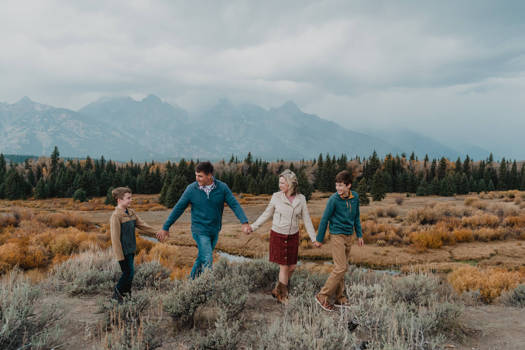 A family with young boys capture memories in Jackson Hole on a family photoshoot with Flytographer.